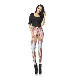 Sexy Hollow Muscle Print Women Fashion Leggings