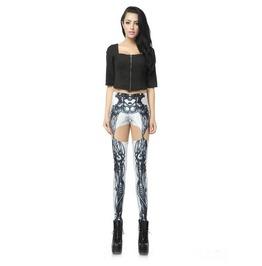 Sexy Hollow Skeleton Print Women Fashion Leggings