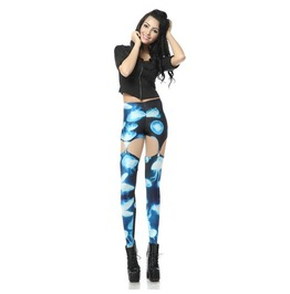 Sexy Hollow Jellyfish Print Women Fashion Leggings