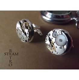 Cufflinks Steampunk Watch Movements Steampunk Jewelry
