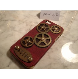 Igearz Steampunk Case Cover Apple Iphone 5 S Gears Spin