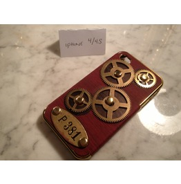 Igearz Steampunk Apple Iphone 4 S Case Cover Gears Spin