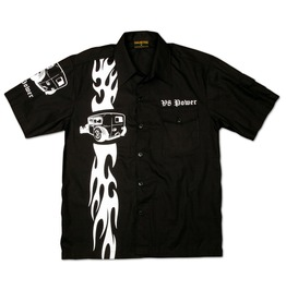 Chaquetero's V8 Power Hot Rod Racing Flame Workershirt Men