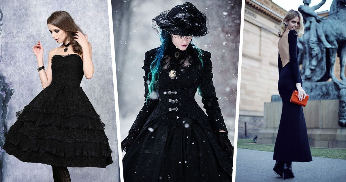 Gothic evening dresses that flatter a smaller bust