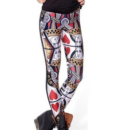 Womens Queen Hearts Leggings