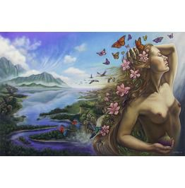 Fantasy Fine Art Print Fairy Goddess Surreal Nude