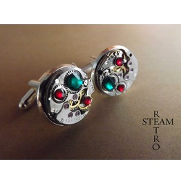 Mens Steampunk Cufflinks Steampunk Jewelry Steamretr