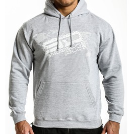Shattered Sd Hoodie Grey/White Logo
