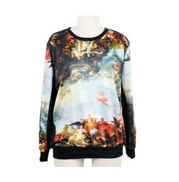 Oil Painting Print Fashion Sweater 2013