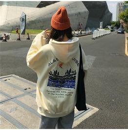 Sweatshirts Female Hoodies Thick Women Pullover Tops Long Sleeve Women's