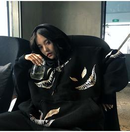 Winter Gothic Venom Hoodie Ladies Oversize Sweatshirt Harajuku Loose