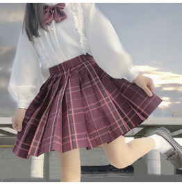 BLOUSES LONG SLEEVE PLEATED SKIRTS IN AVAILBLE LFMY 6675 A4 KAWAII JK STYLE