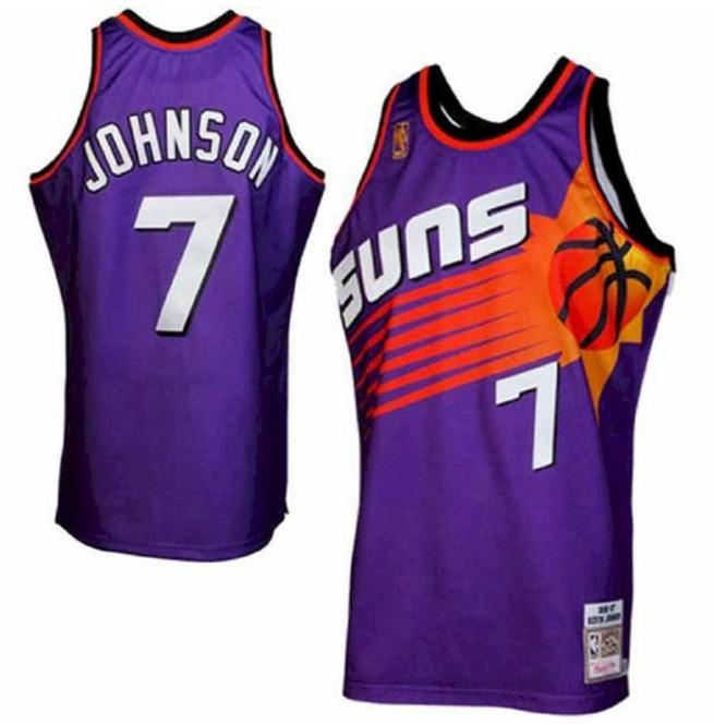 Men's Phoenix Suns #7 Kevin Johnson Purple 1996 1997 | RebelsMarket
