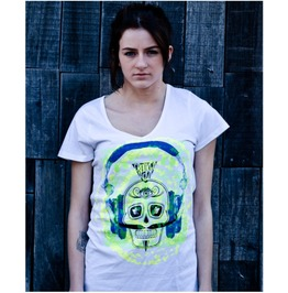 Crooked Head 'rewind' Ladies V Neck Tee