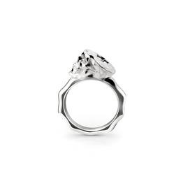 Faceted Skull Ring.