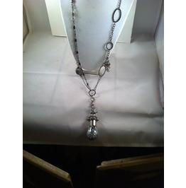 Glitter Filled Lightbulb Necklace