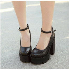 2021 New Spring Autumn Casual High-heeled Shoes Sexy Platform