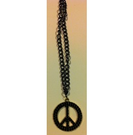 Black Crystal Peace Sign