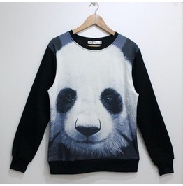 Cute Animal Print Fashion Round Collar Sweatshirt