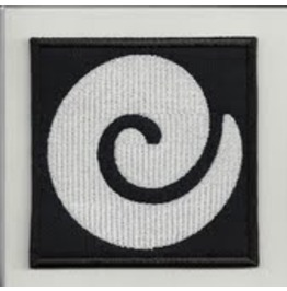 Koru Embroidered Patch, 3,2 X 3,2 Inch