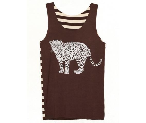 jaguar_wild_animal_brown_stripe_tunic_tank_top_size_m_fashion_tops_3.jpg