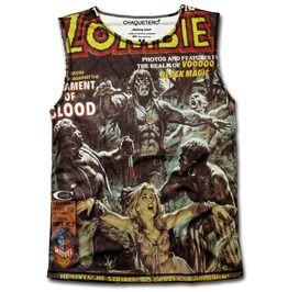 Chaquetero retro walking dead zombies designer sleeveless top t shirts