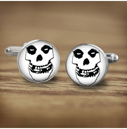 Misfits White Skull Logo #2 Cuff Links Men,Weddings