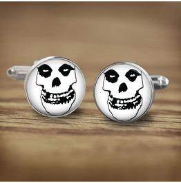Misfits White Skull Logo #2 Cuff Links Men,Weddings