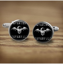 Avenged Sevenfold Bat Skull Logo Cuff Links Men,Wedding