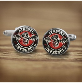 Avenged Sevenfold Bat Logo #2 Cuff Links Men,Wedding