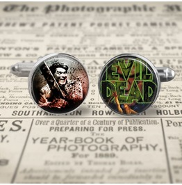Evil Dead Movie Ash & Poster Cuff Links Men,Wedding