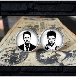 Fight Club Narrator/Tyler Movie Cuff Links, Men,Wedding