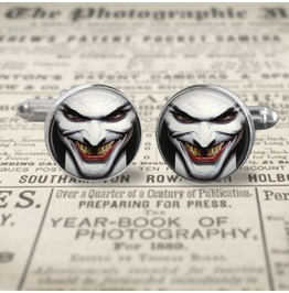 Joker Face Cuff Links Men,Weddings, Groomsmen