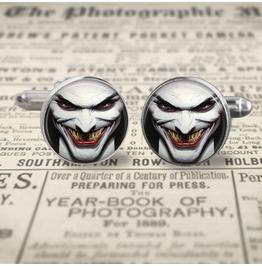 Joker Face Cuff Links Men,Weddings, Groomsmen