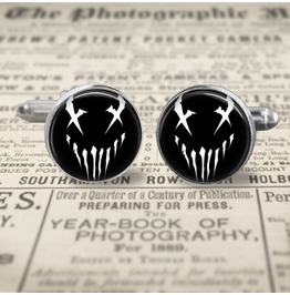 Mushroomhead X Face Logo Cuff Links Men, Weddings