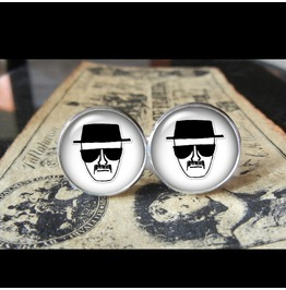 Heisenberg Breaking Bad Cuff Links Men, Weddings