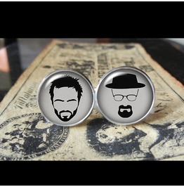 Heisenberg/Jesse Breaking Bad Cuff Links Men, Weddings