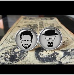 Heisenberg/Jesse Breaking Bad Cuff Links Men, Weddings