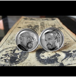 Walter White/Jesse Breaking Bad Cuff Links Men, Wedding