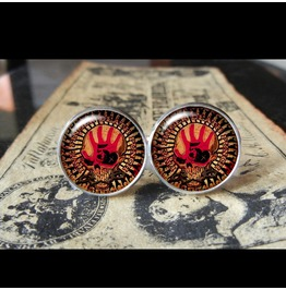 5 Finger Death Punch Logo Cuff Links Men, Wedding