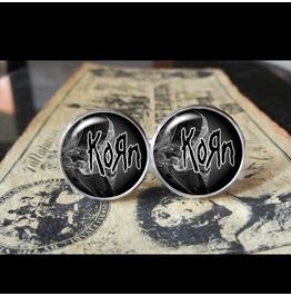 Korn Band Logo Cuff Links Men, Weddings