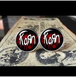Korn Band Logo #2 Cuff Links Men, Weddings