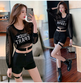 HIP HOP MESH JACKETS HALTER SHORTS IN AVAILABLE 6666 N7 GOTHIC SKIRTS