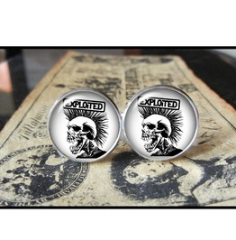 Exploited Band Logo Cuff Links Men, Weddings
