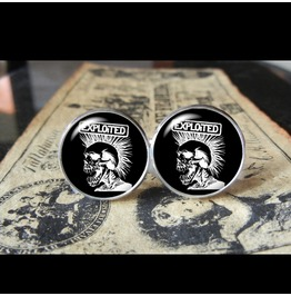 Exploited Band Logo #2 Cuff Links Men, Weddings