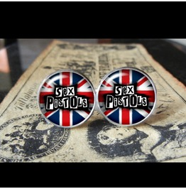 Sex Pistols Band Logo Cuff Links Men, Weddings