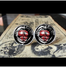 Alternate Superman Style Cuff Links Men, Weddings,Groom