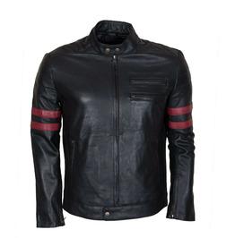 Mens Stylish Cowhide Black Leather Fashion Jacket