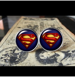Alternate Superman #2 Style Cuff Links Men, Weddings