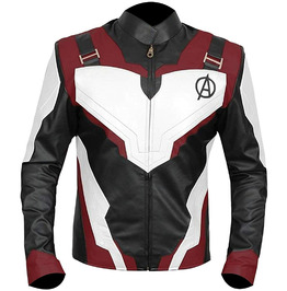 Avengers Endgame Quantum Superhero Iron Man Leather Jacket for Men